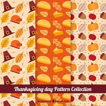 Various retro patterns of thanksgiving