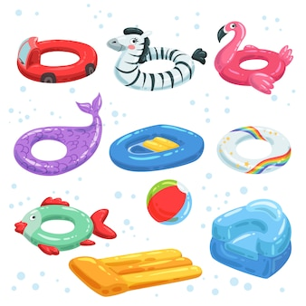 Various rubber equipment for water park.    inflatable toys