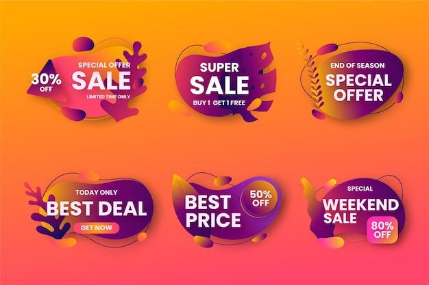 Коллекция различных распродаж