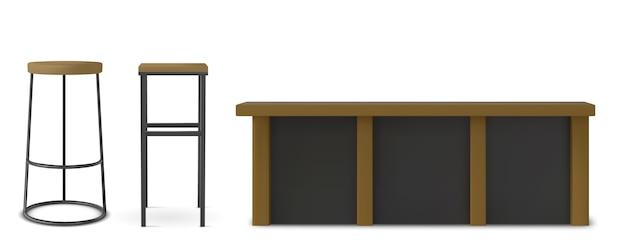 의자 현실적인 그림 세트의 다양한 모양