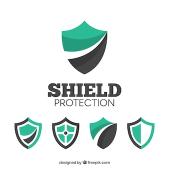 Various shield logos