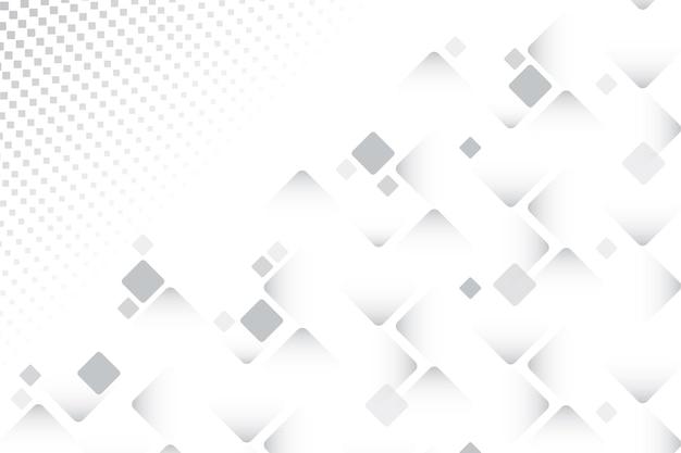 さまざまなサイズの正方形の白い背景