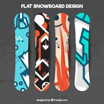 Vari di snowboard in un design moderno