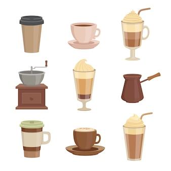 Различные сорта кофе Premium векторы