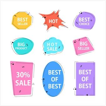 Various speech bubble doodle set for shopping