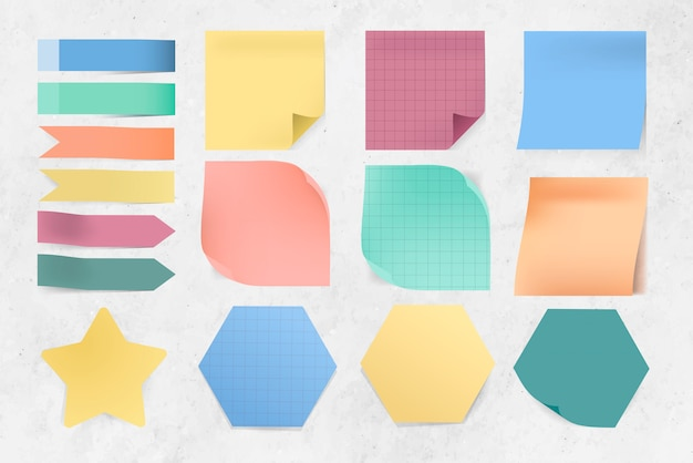 Various sticky notes set