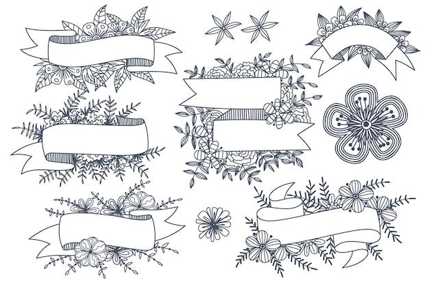 Various styles of flower frames