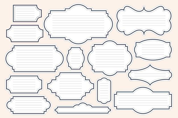 다양한 스타일의 텍스트 상자는 특정 콘텐츠를 표시해야 하는 만화 및 일러스트레이션에 사용하도록 설계되었습니다.