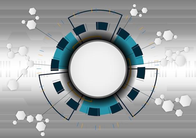 Various technology elements hi-tech communication concept