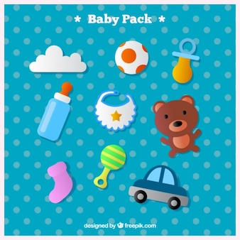 Various toys and baby accessories