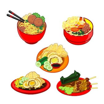 다양한 인도네시아 전통 요리