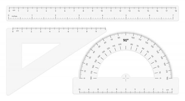Various transparent rulers