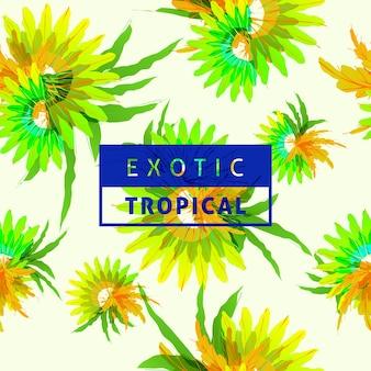 Various tropical leaves pattern