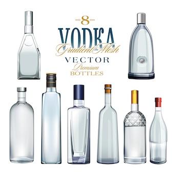 Various types of bottles. vector illustration