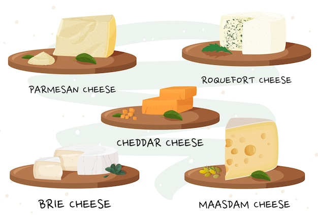 各種チーズ。