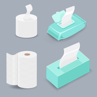 Various types of tissue paper