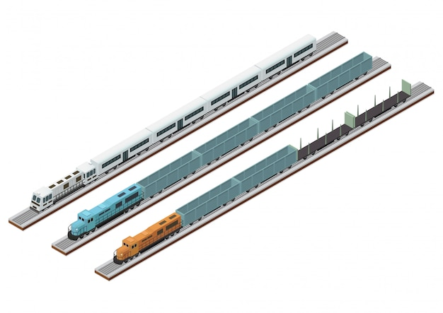 Various types of train circuits on the track