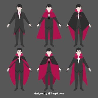 様々な吸血鬼のキャラクター