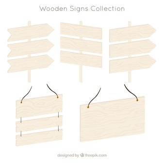 Vari segni di legno