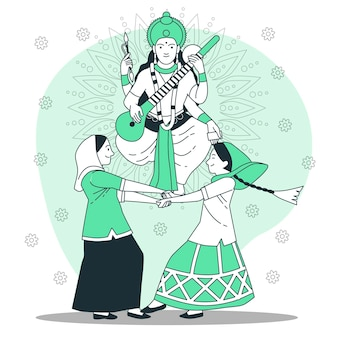 Vasant panchami festivalconcept illustration