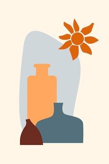 Ваза бохо минималистская ваза иллюстрация