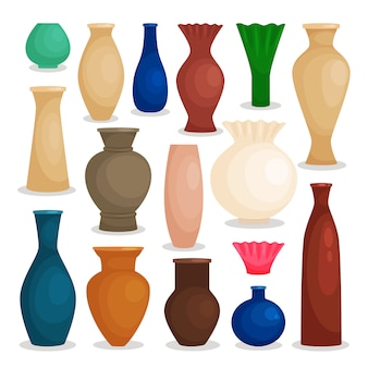 Vases colorful set