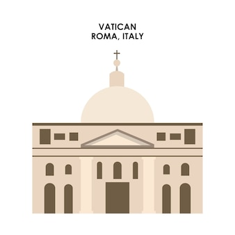 Vatican icon. italy culture design. vector graphic