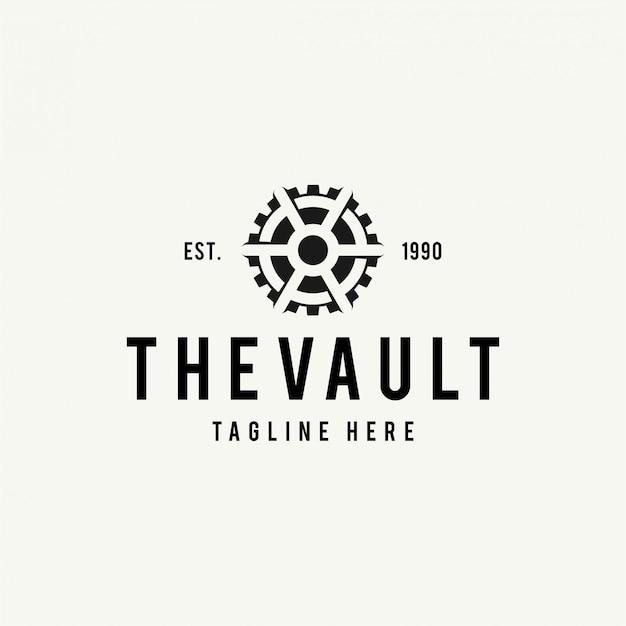 Vault logo hipster vintage retro door