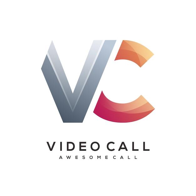 Vc letter logo template