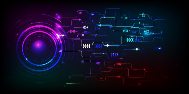 背景や壁紙として使用してvctorの技術サークルと技術デジタルビジネス