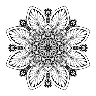 本を彩るためのマンダラ。東洋のベクトル、抗ストレス療法パターン。ヨガロゴvec