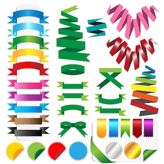 Vecter set of ribbons  isolated