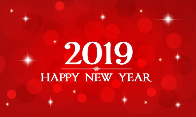 Vector 2019 happy new year.