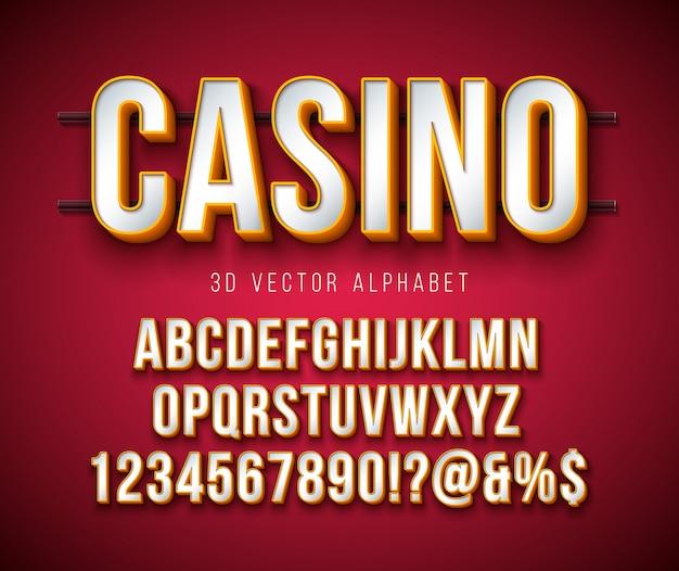 Вектор 3d алфавит шрифт с рамкой и тени