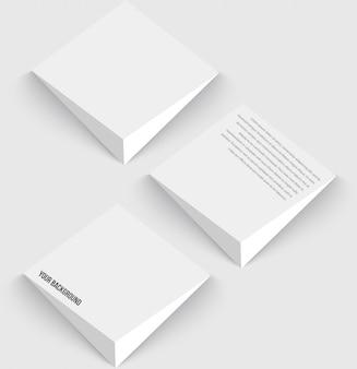 Векторные 3d баннеры и квадраты. дизайн