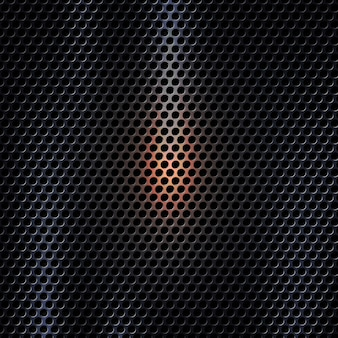 Vector 3d dark metal texture background with light effect