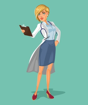 Vector 3d doctor woman