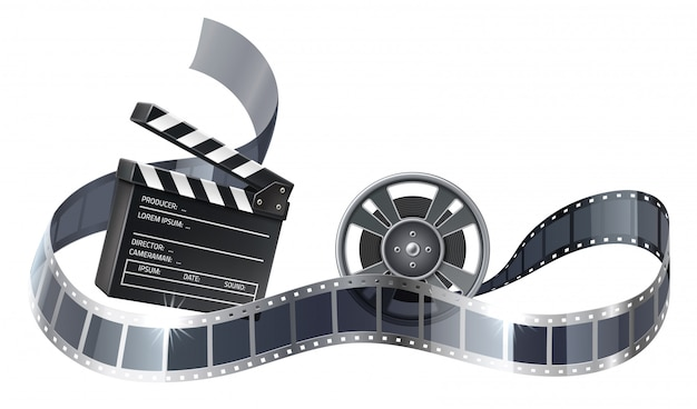 ベクトル3 dフィルムリールまたはフィルムストライプ付きボビン