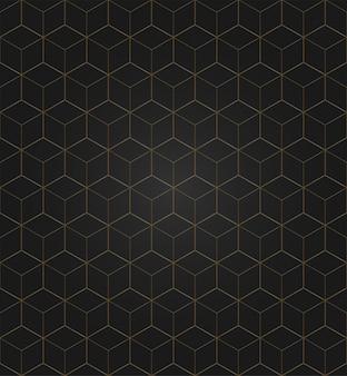 ベクトル3 dゴールドの幾何学的な広場