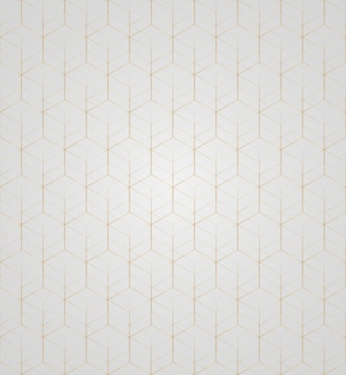 Vector 3d gold geometric square