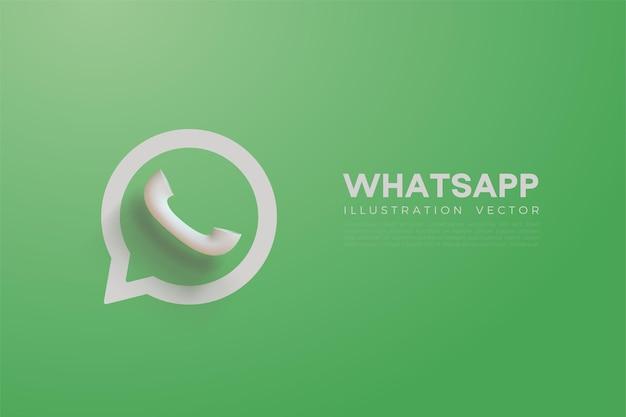 밝은 녹색 색상으로 3d whatsapp 벡터