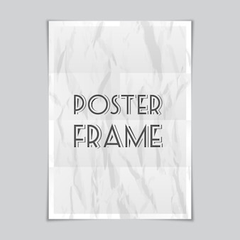 Vector a4 paper sheet with shadows, poster mockup