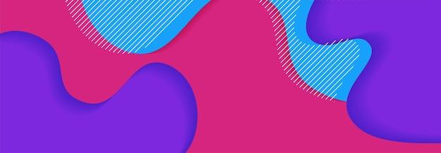 Векторный дизайн баннера абстрактный фон