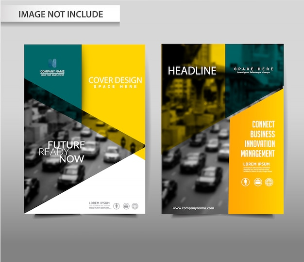 Vector abstract background brochure flyer template