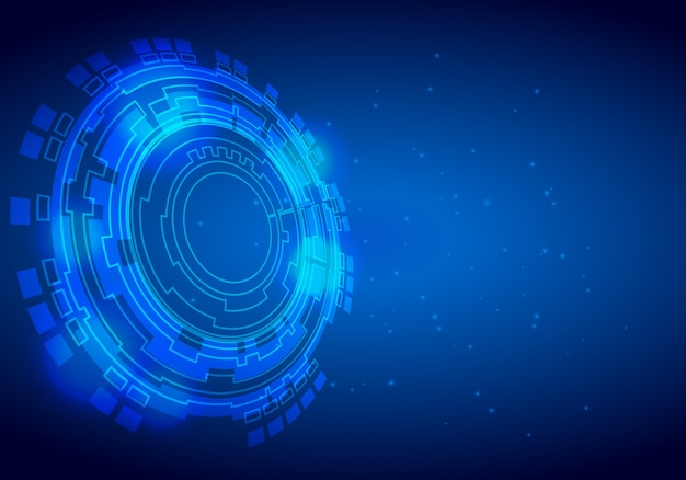 Вектор абстрактного фона круг привет технологий концепции