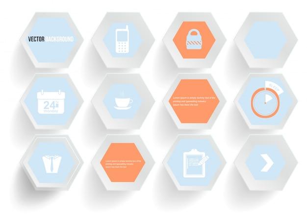 Вектор абстрактного фона шестигранник. веб-дизайн и дизайн