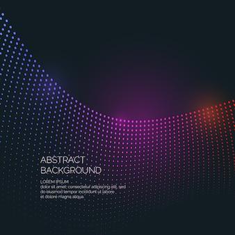 Вектор абстрактный фон с цветными динамическими волнами, линией и частицами. иллюстрация подходит для дизайна