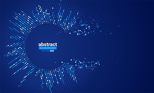 Vector abstract background with a colored dotted dynamic waves