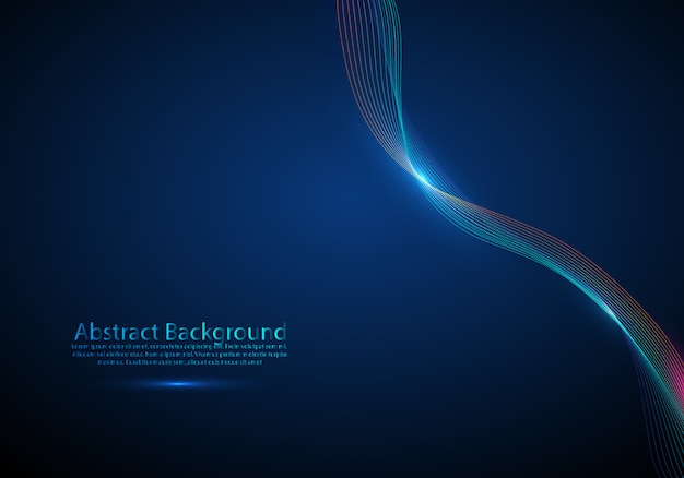 Vector abstract background with a dynamic wave