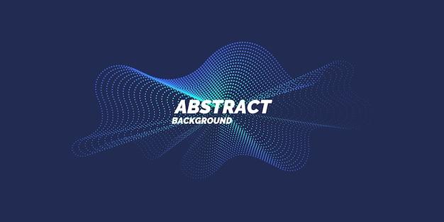動的な波線と粒子とベクトルの抽象的な背景